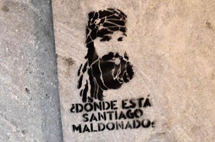 "Marcha por Santiago Maldonado: ""Lamentamos varias pintadas"""