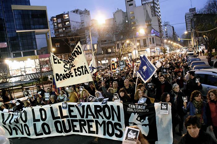 #UnMesSinSantiago: en Mar del Plata también se escuchó el grito