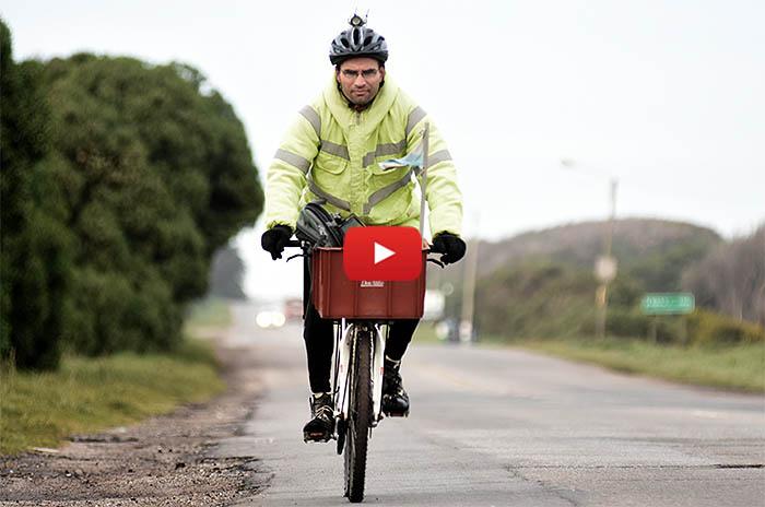 Docente sobre ruedas: el recorrido, en un minuto