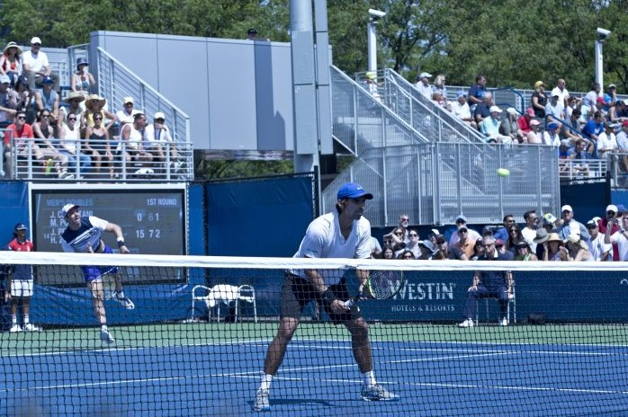 Horacio Zeballos, en el dobles del US Open