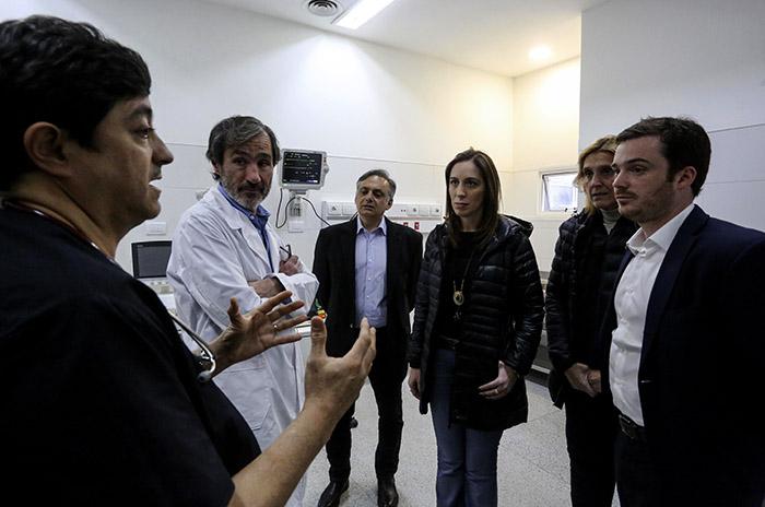 """Vidal, en la ciudad y de recorrida por el HIGA y el """"Eva Duarte"""""""