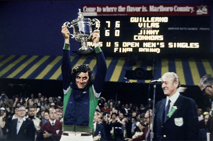 El segundo gran triunfo de Vilas: a 40 años del US Open