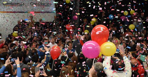 Acto PRO:360º, globos, papelitos y mucho despliegue