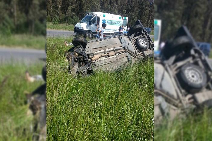 Nueve heridos en un accidente: en el camino chocó la ambulancia