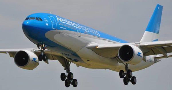 Aerolíneas Argentinas desprogramó su único vuelo a Caracas