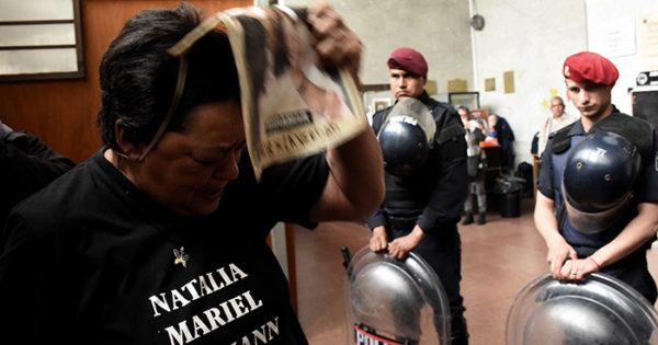 El dolor y el repudio de la familia Melmann, en fotos