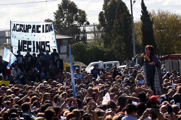 CRISTINA FERNANDEZ DE KIRCHNER EN MAR DEL PLATA ACTO CAMPAÑA ELECCIONES 2017 (1)