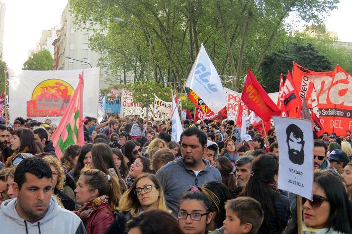 """""""Justicia por Santiago"""" y """"Fuera Bullrich"""", el reclamo de miles"""