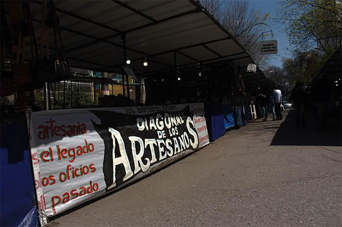 """Artesanos: """"Estarán en la Diagonal al terminar la obra"""""""