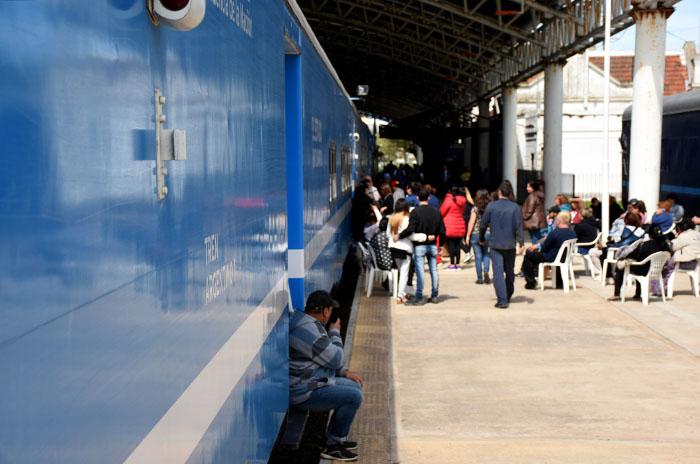 """Tren sanitario: la """"alta demanda"""" como reflejo de las necesidades"""