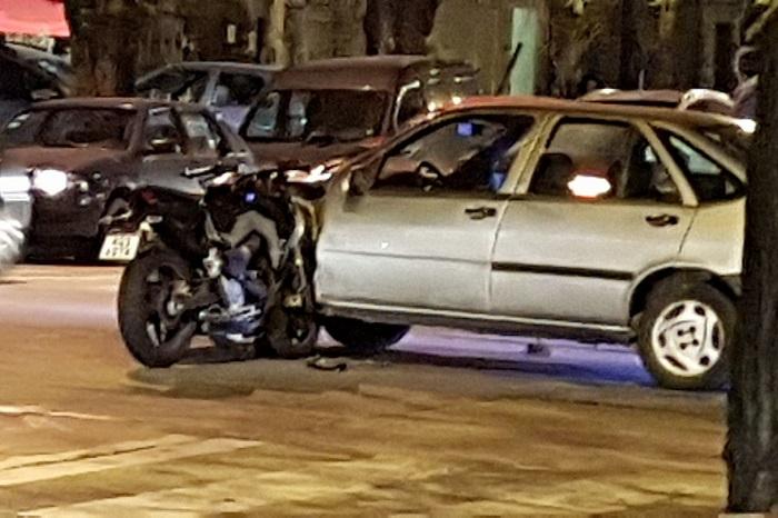 choque moto y auto Libertad y La Pampa