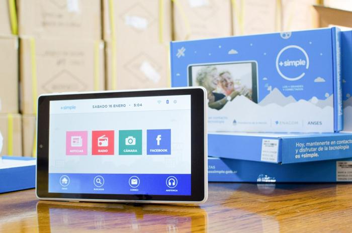 Extienden hasta el 5 de diciembre la entrega de tablets a jubilados