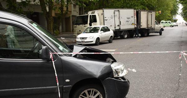 Triple choque en Libertad y Jujuy: dos heridos