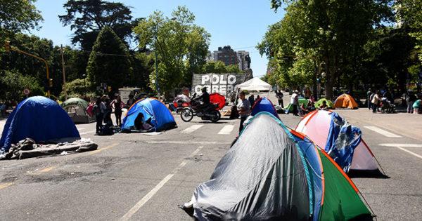 La manifestación nacional del Polo Obrero, también en Mar del Plata