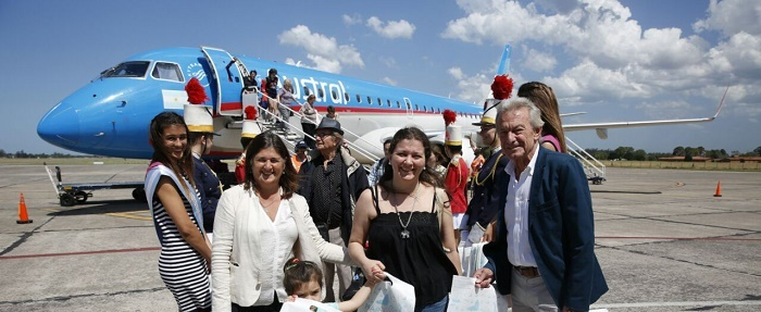 Vía Aerolíneas Argentinas, arribó el primer vuelo desde Tucumán