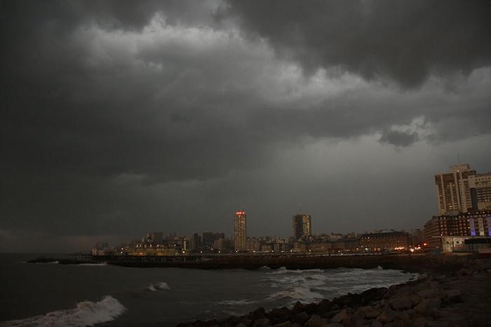 Rige un alerta meteorológico por tormentas fuertes y granizo en Mar del Plata
