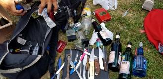 Secuestran alcohol, drogas y cuchillos a hinchas de River