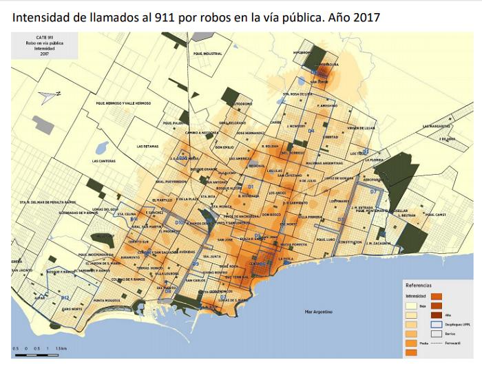Mapa robo via publica - 2017