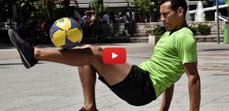 Un artista de la pelota que busca su lugar en Mar del Plata