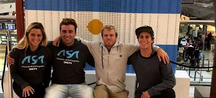 Surf: cuatro marplatenses de gira por Australia