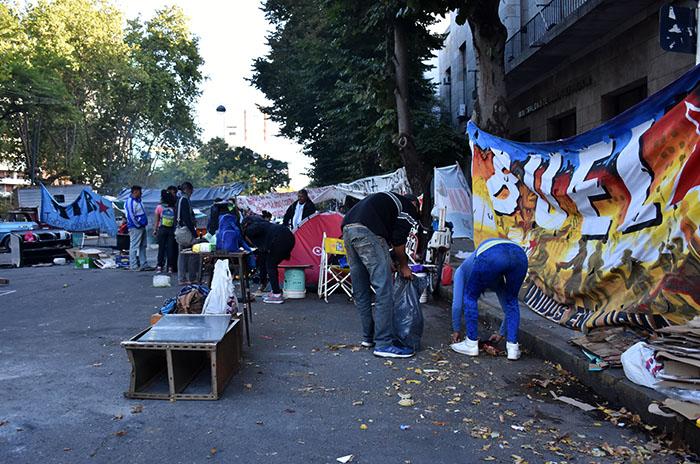 """Acampe, día 10: """"Arroyo quiere justificar su pedido de represión"""""""
