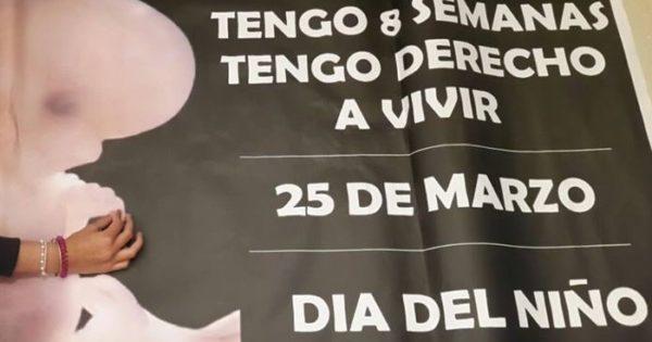 """El 25 de marzo se hará la """"Marcha por la vida"""", en contra del aborto"""