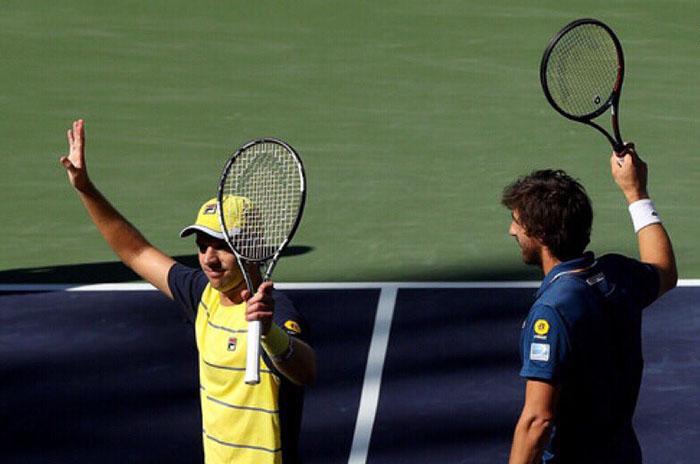 Los hermanos Bryan se tomaron revancha ante Zeballos en Indian Wells