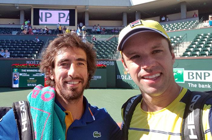 Zeballos y Cuevas, instalados en las semifinales de Indian Wells