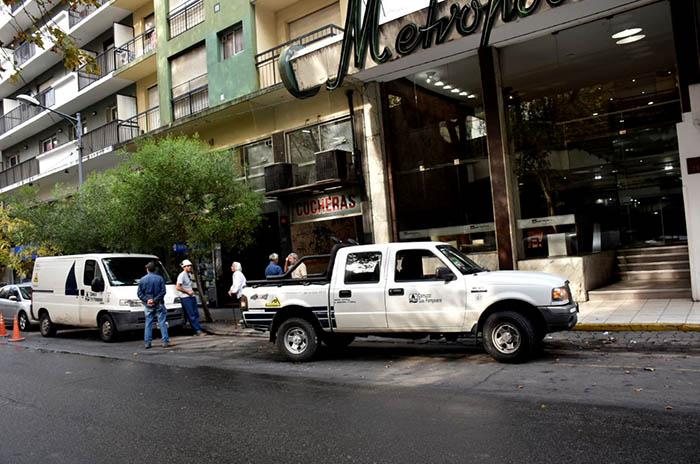 Escape de gas y explosión en un edificio del centro