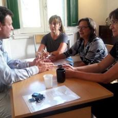 El nuevo secretario de Cultura, con los artistas independientes