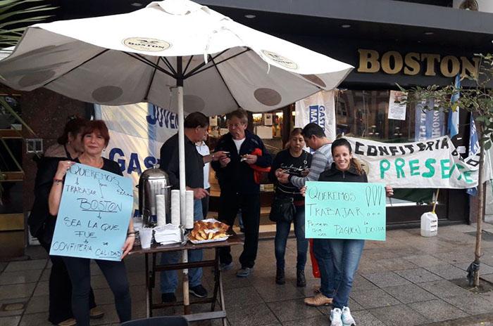 Boston: ocupación, escrache y reparto de medialunas