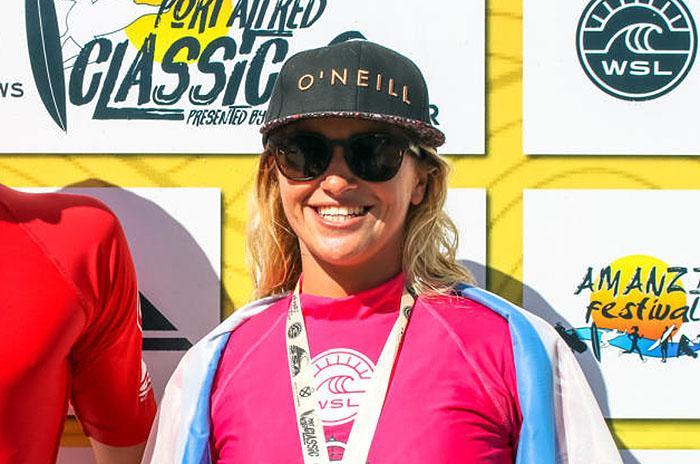 Surf: Josefina Ané, campeona en Sudáfrica