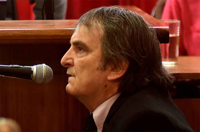 Belmonte no quiso enfrentar al fiscal y terminó su declaración