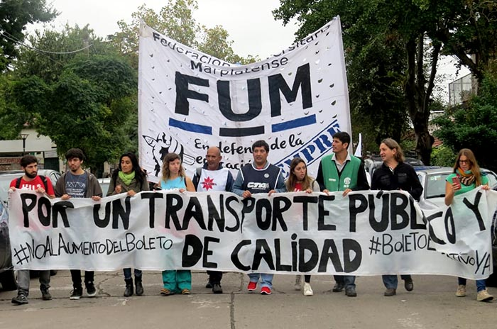 Una marcha y muchos reclamos por transporte público de calidad
