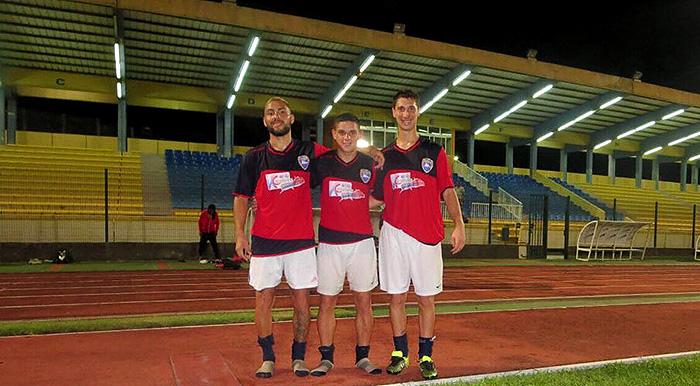 Dos marplatenses que son sensación en el fútbol del Caribe