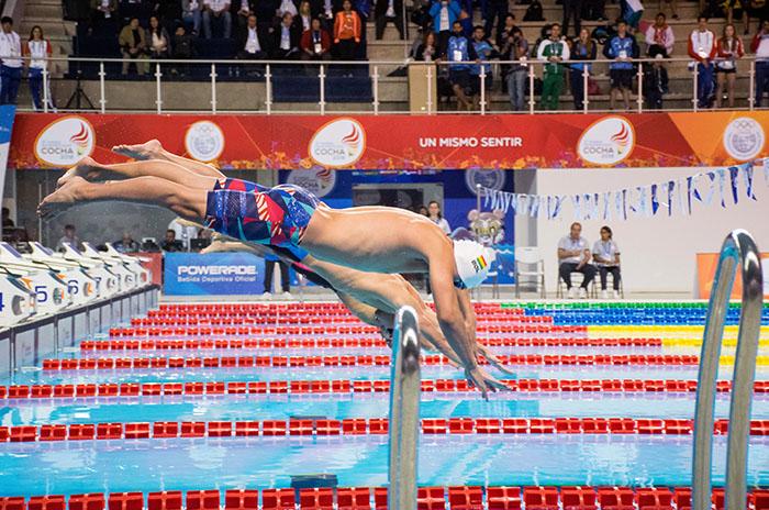Actividad marplatense en el cierre de la natación en los Odesur