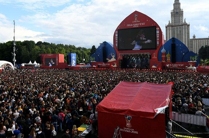 Rusia 2018: el Fan Fest, un refugio para los que no tienen entradas