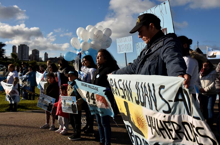 """Ocho meses sin el ARA San Juan: """"No vamos a dejar que se olvide"""""""