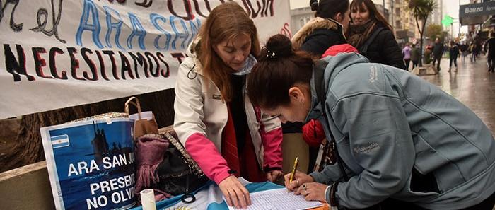 ARA San Juan: juntan firmas para pedir que se agilice la búsqueda