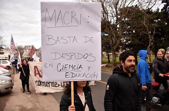 PROTESTA MACRI EN MAR DEL PLATA