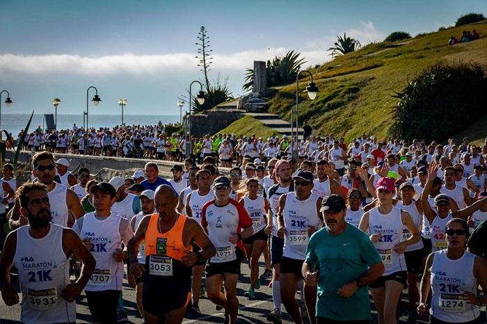 Con varios cambios 8500 personas corrieron el Maratón
