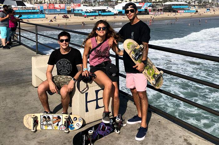 Skate: Mecu Videla y Sandro Moral compitieron en California