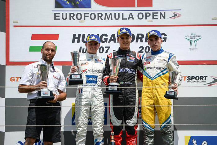 Marcos Siebert sumó dos podios en Hungría