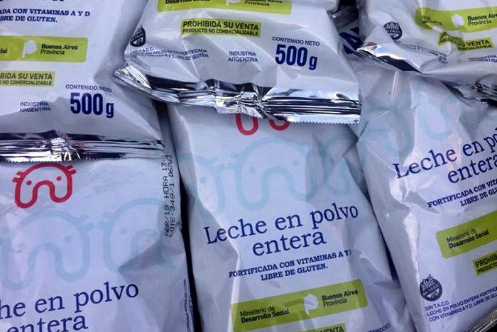 En Plaza Rocha vendían la leche que entrega Desarrollo Social