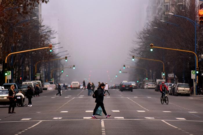 Una intensa niebla se apoderó de la tarde marplatense