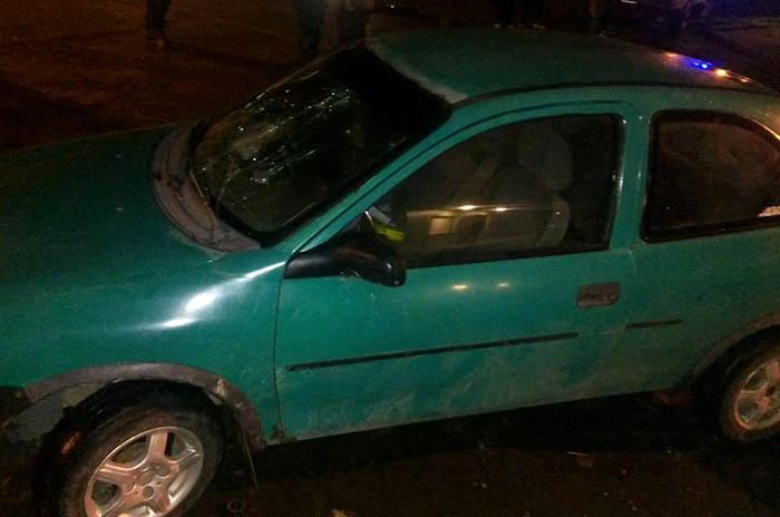 Conducía alcoholizado y atropelló a dos personas