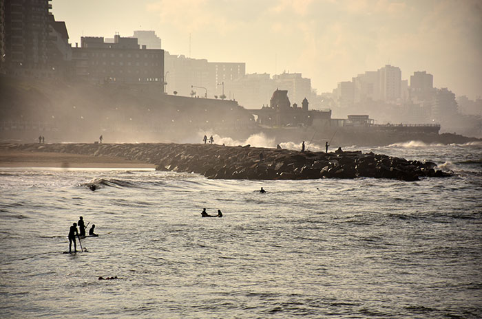 La niebla invadió la costa marplatense