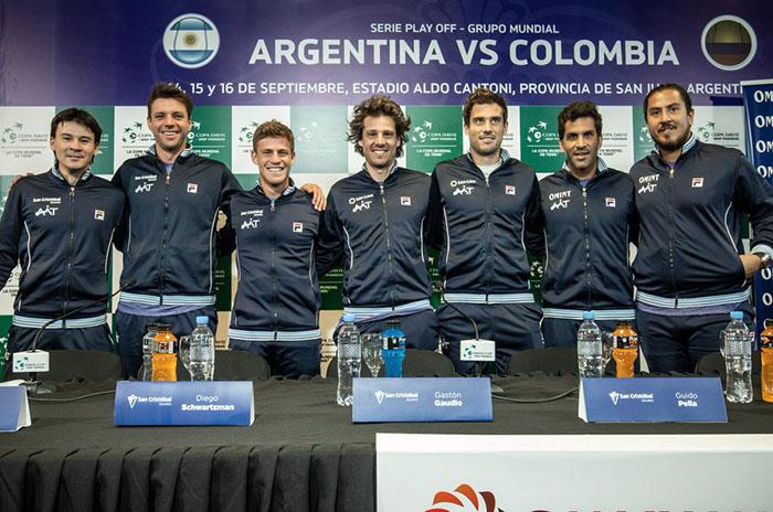 Copa Davis: el equipo argentino ya se entrena pensando en Colombia