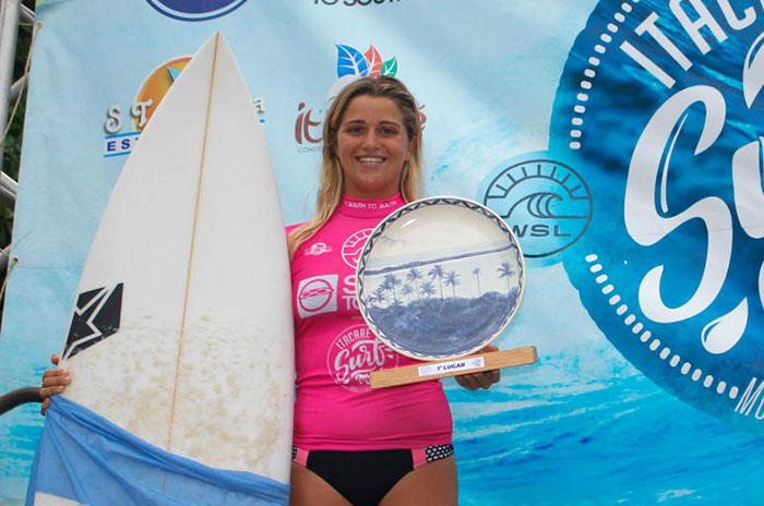 Josefina Ané, otra vez campeona en la Liga Mundial de Surf