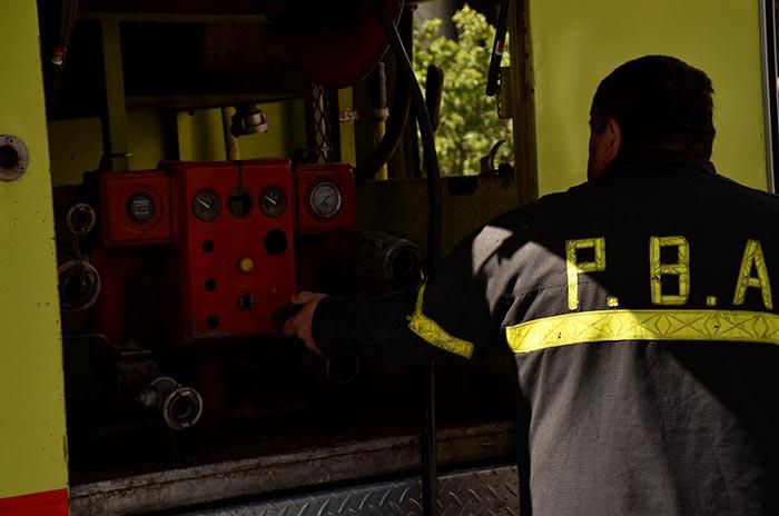 Encontraron un cuerpo en medio de un incendio en la Ruta 88
